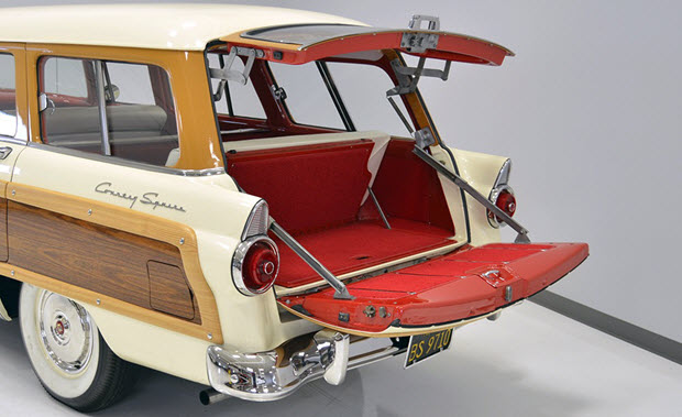 1955 ford country squire station wagon colonial white. Black Bedroom Furniture Sets. Home Design Ideas