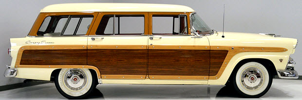 1955 Ford Country Squire woodgrain