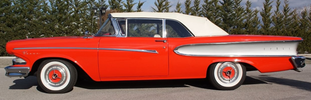 1958 Edsel Pacer Convertible - side view