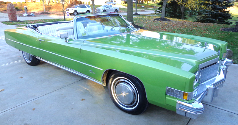 this 1974 cadillac eldorado convertible in persian lime firemist is. Cars Review. Best American Auto & Cars Review