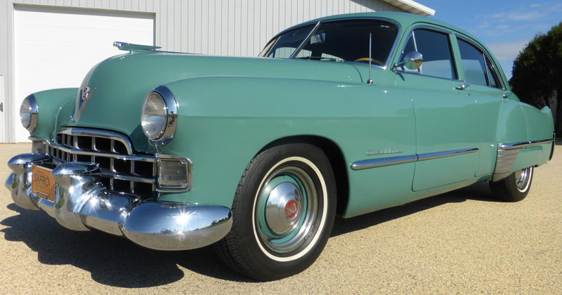 1948 cadillac series 61 four door sedan in lucerne green for 1948 oldsmobile 4 door sedan