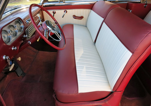 1951 Packard 250 Convertible interior