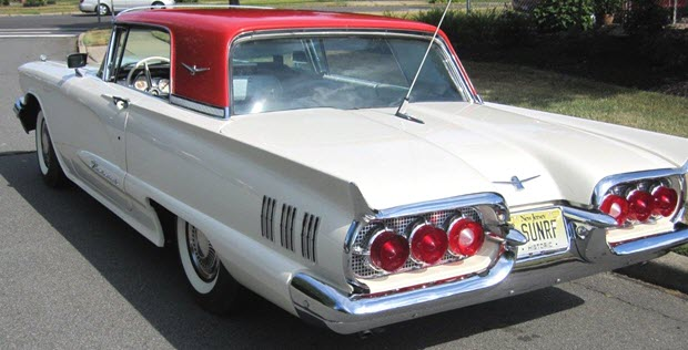 1960 Ford Thunderbird Hardtop With Factory Sunroof Rare