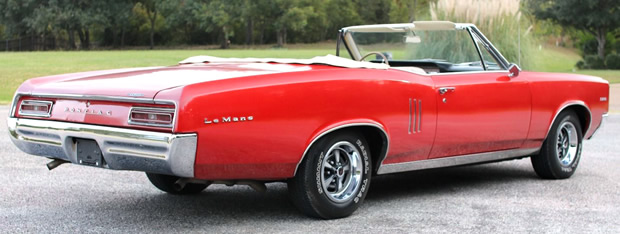 1967 Pontiac Lemans Convertible In Regimental Red