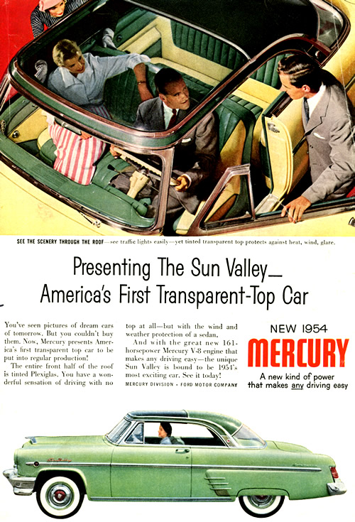 1954 Mercury Sun Valley Ad