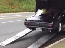 1965 Mustang Trailer Crash