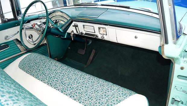 mercury monterey hardtop coupe white  green  merc  matic
