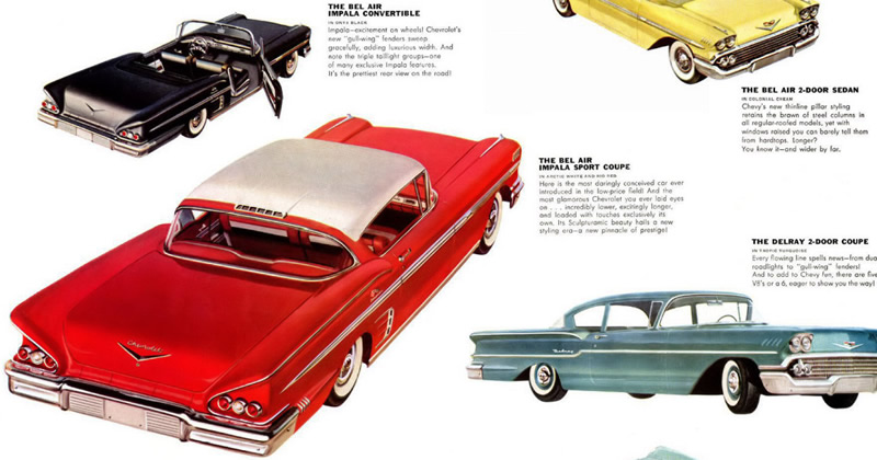 1958 Chevrolet Bel Air Impala Brochure