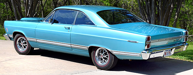 1967 Ford Fairlane 500 Hardtop Rear View
