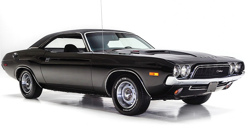 1972 Dodge Challenger Rallye In Tx9 Black With 340 V8 Engine