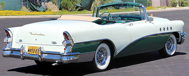 1955 Buick Roadmaster Convertible Rear View