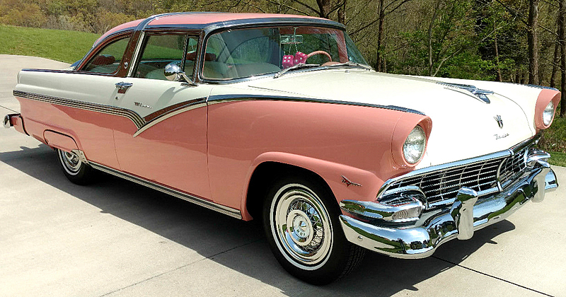 1956 Ford Fairlane Crown Victoria Sunset Coral Over