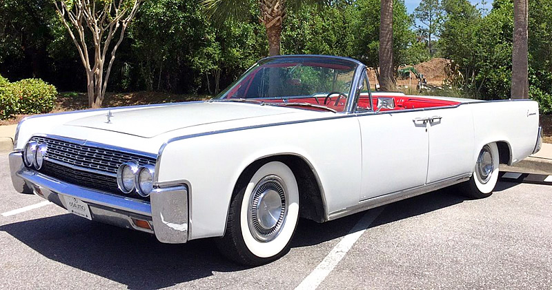 1962 Lincoln Continental Convertible with just 16,000 miles on the