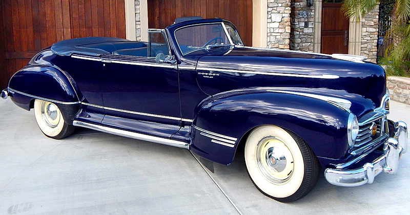 1947 Hudson Super Six Convertible Brougham 3 Speed Manual