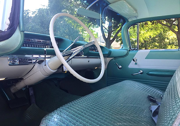 1959 Dynamic 88 Holiday Hardtop Seats Still Have Plastic