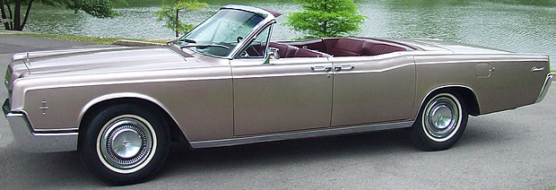 1966 Lincoln Continental Convertible side view