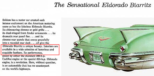 1957 Caddy Eldorado Biarritz Brochure