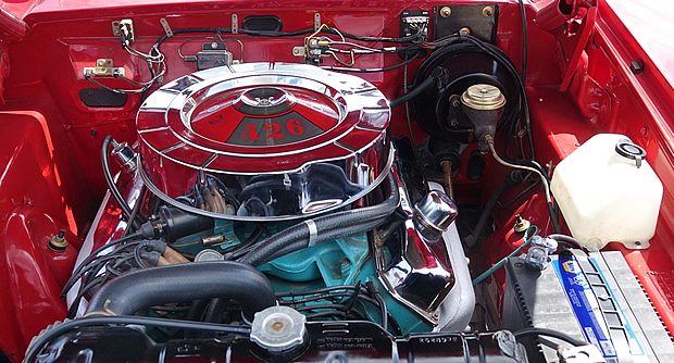 1965 Plyumouth 426 wedge V8 engine