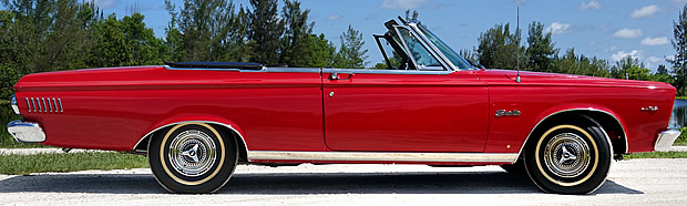 65 Plymouth Satellite Convertible - side view