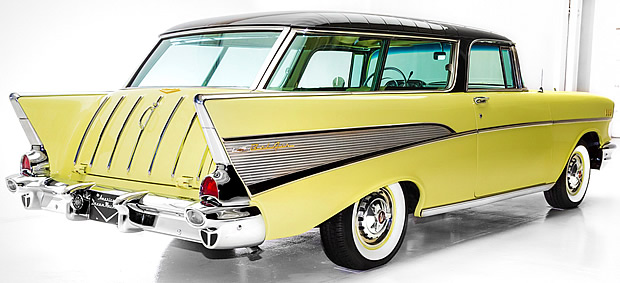 1957 Chevy Nomad - rear view