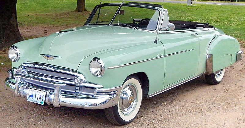 1950 Chevrolet Deluxe Styleline Convertible Only 32 681