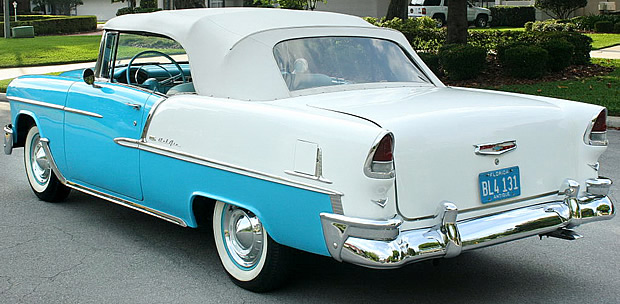 1955 Chevy Convertible rear view