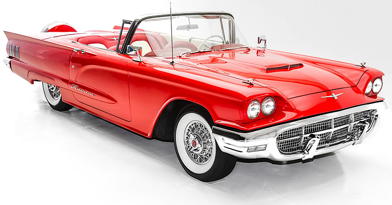 1960 Ford Thunderbird Convertible Stunning T Bird In Red