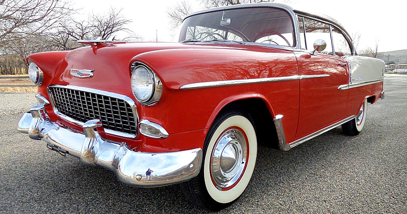 1955 chevrolet bel air sport coupe gypsy red indian ivory - 1955 chevrolet belair sport coupe ...