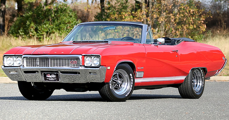 1968 Buick Gs 400 Convertible Scarlet Red Turbo Hydramatic