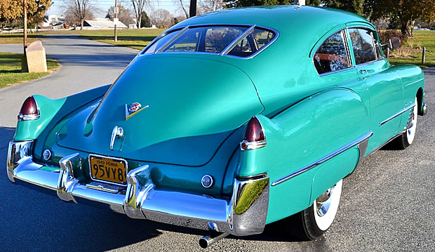 1949 Cadillac Series 62 Club Coupe Rear view
