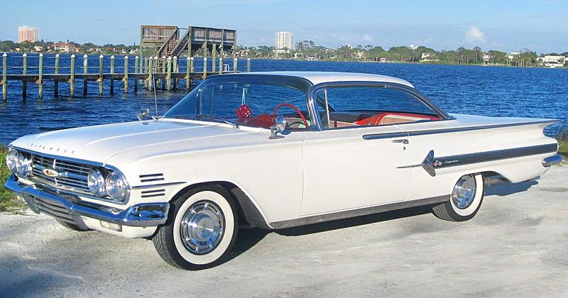 1960 Chevrolet Impala Sport Coupe Ermine White 348 V8