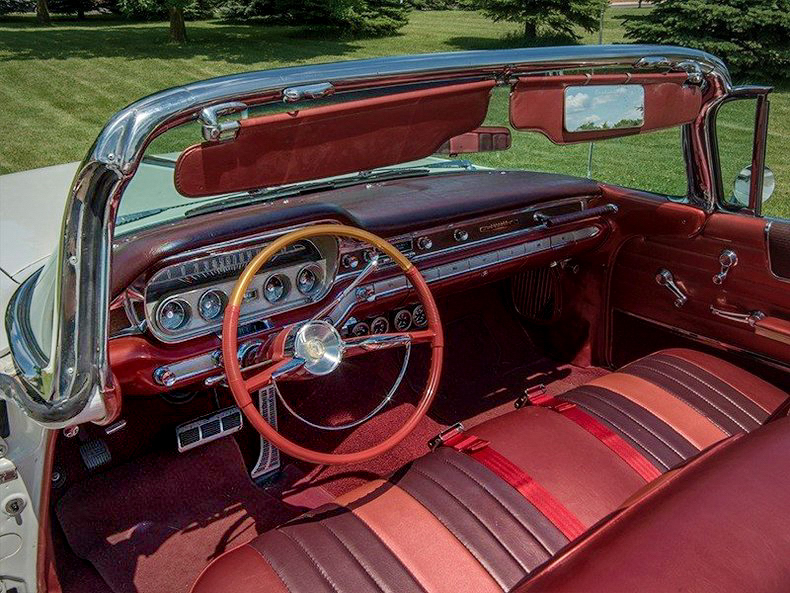 1960 Pontiac Bonneville Convertible In Oyster White