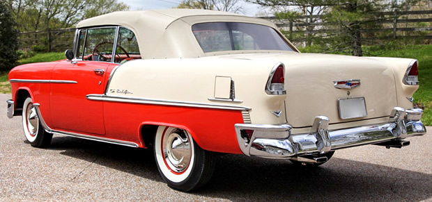55 Chevy Bel Air Convertible Rear View