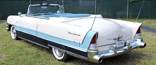 1955 Packard Caribbean Convertible Rear View