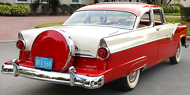 1955 Ford Crown Victoria with factory continental kit