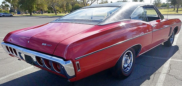 1968 Chevy Impala SS427 Rear View