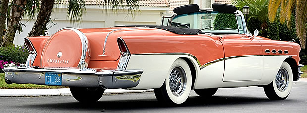1956 Buick Roadmaster Convertible Rear View