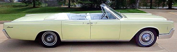 66 Lincoln Continental Convertible - side view