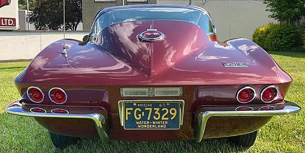 1967 Corvette Rear