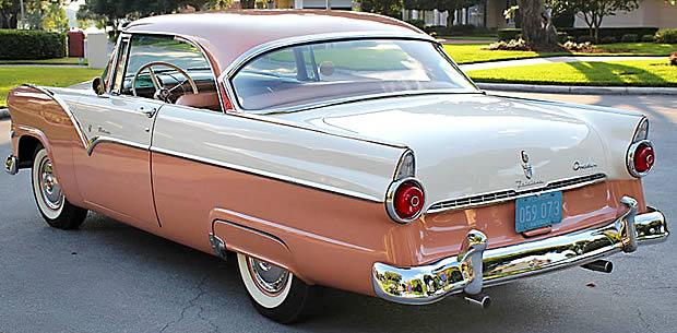 55 Ford Fairlane Victoria Rear 1955 Ford Fairlane Victoria Rear View