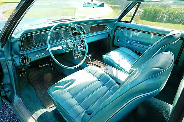 1966 Chevy Caprice interior - bucket seats