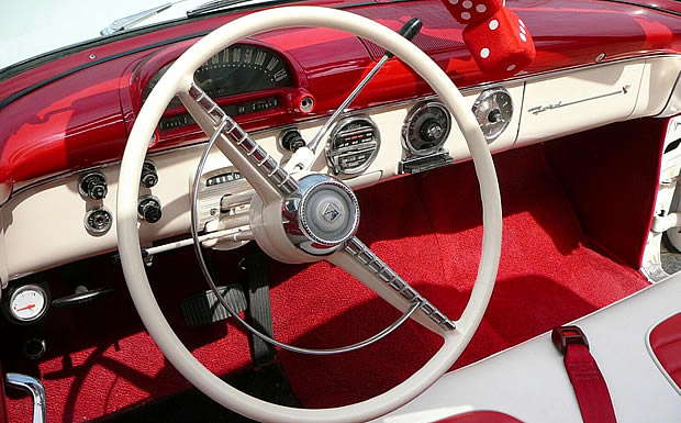 55 Ford Fairlane Sunliner Dash