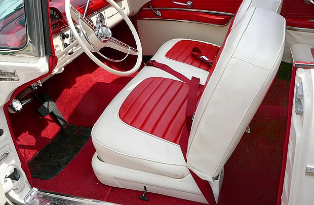 55 Ford Fairlane Sunliner Interior