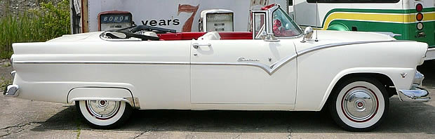 1955 Ford Fairlane Sunliner Convertible - side