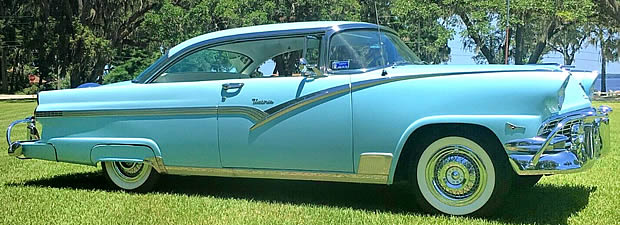 1956 Ford Victoria side view