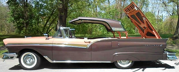 1957 Ford Skyliner - roof in motion