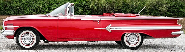 1960 Chevy Impala Convertible side view