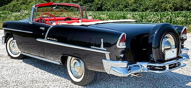 55 Chevy Bel Air Convertible rear / side view