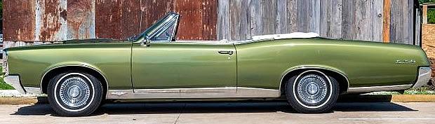 1967 Pontiac GTO Convertible side view