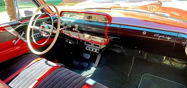 1954 Lincoln Capri Sport Coupe Interior